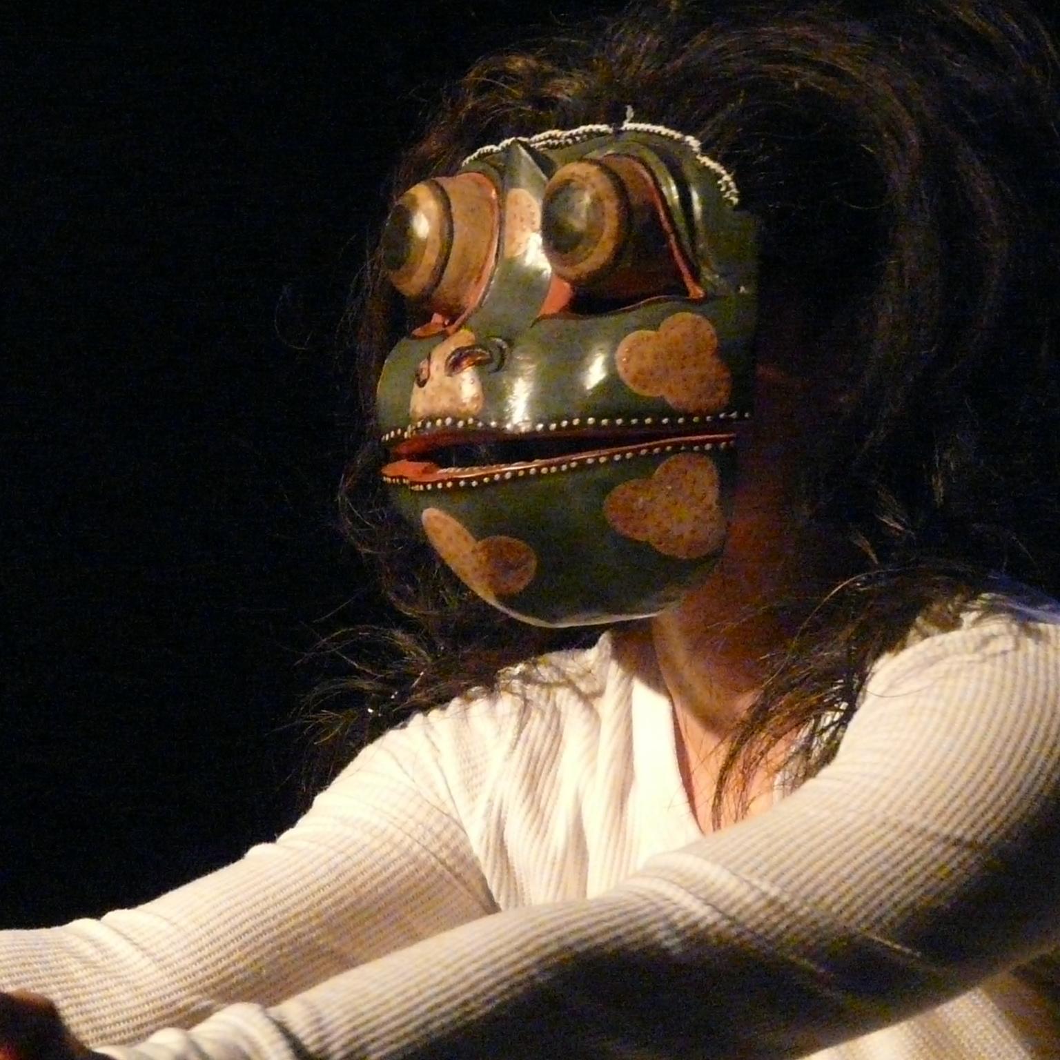 maschera angela delfini clown rana